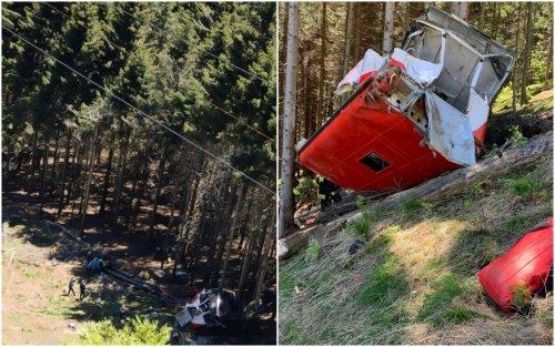 Funivia precipitata tra Stresa e Mottarone, le foto dell'incidente