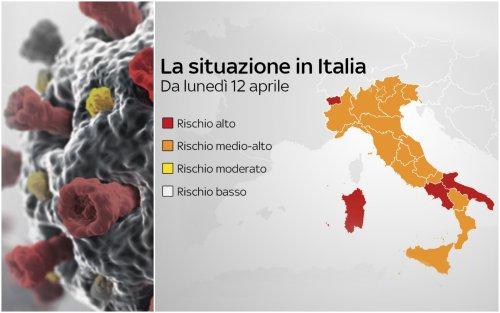 Nuovi colori regioni, da lunedì 12 quasi tutta Italia in arancione
