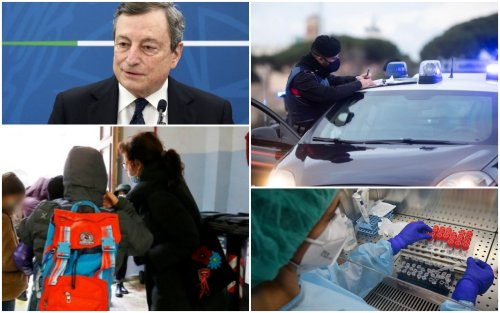 """Covid, nuovo decreto. Draghi: """"Riapertura scuola fino a prima media"""""""