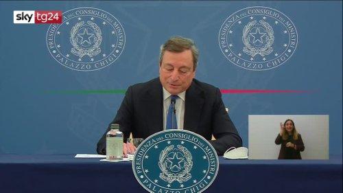 Draghi: soddisfatto per riaperture graduali   Video Sky - Sky TG24