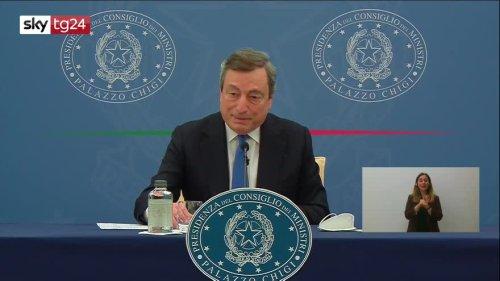Sostegni bis, Draghi: nessuno sarà lasciato indietro   Video Sky - Sky TG24