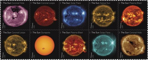 NASA's images of the sun find a place on postage stamps