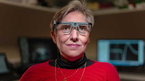 A blind woman received a brain implant enabling vision