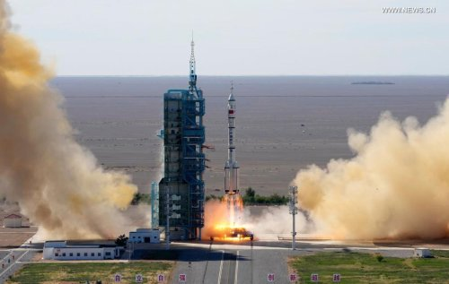 China sends three astronauts to live on the Tianhe space station for 90 days