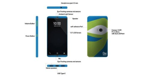 ZTE's crowdsourced product: an eye-tracking, self-adhesive phone