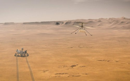 This is what NASA's Ingenuity helicopter sounds like flying over Mars