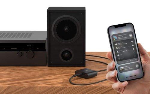Belkin's AirPlay 2 adapter for your speakers is simple genius