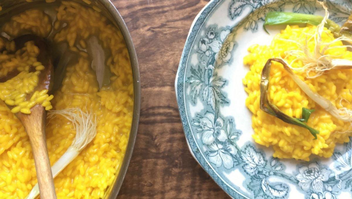 Le risotto à la milanaise, safran du temps