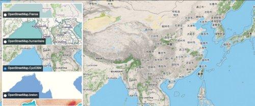 Un mystérieux internaute trafique une carte open source en faveur de la Chine