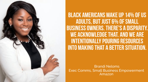 Brandi Neloms of Amazon: SMBs Represented Almost 60% of Our Sales in 2020; We'd Like More Black Businesses to Share in This Success - Small Business Trends