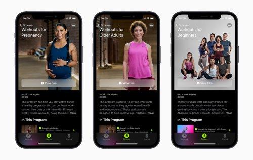 Apple Fitness + stellt neue Workouts für Schwanger und ältere Personen