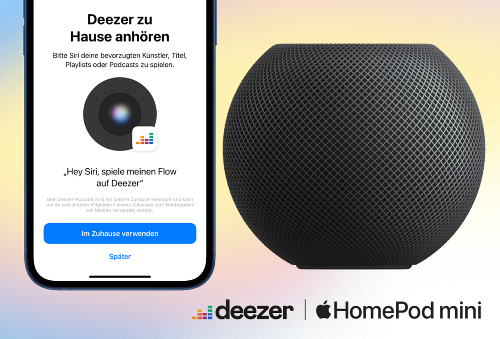 Deezer ist ab sofort auf dem HomePod verfügbar