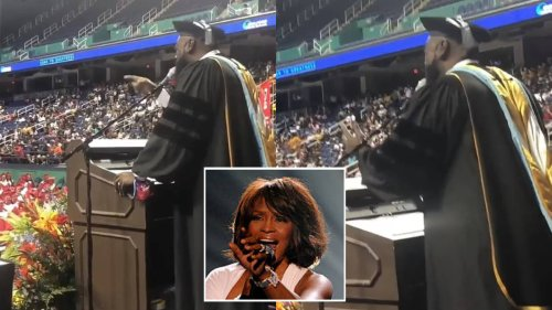 Headmaster stuns pupils with flawless performance of 'I Will Always Love You' at their graduation - video