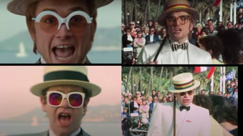 Elton John's video for 'I'm Still Standing' compared with 2019's Rocketman in incredible side-by-side recreation