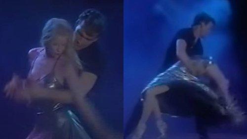 Vintage footage of Patrick Swayze 'dirty dancing' with his wife Lisa Niemi is sensational - video