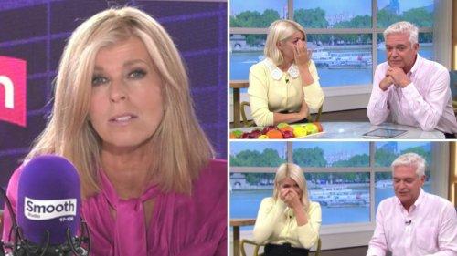 Kate Garraway gives emotional update on husband Derek, leaving Holly Willoughby in tears - video