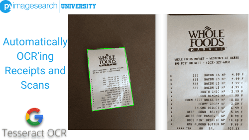 Automatically OCR'ing Receipts and Scans