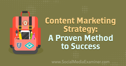 Content Marketing Strategy: A Proven Method to Success : Social Media Examiner