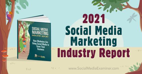 2021 Social Media Marketing Industry Report : Social Media Examiner