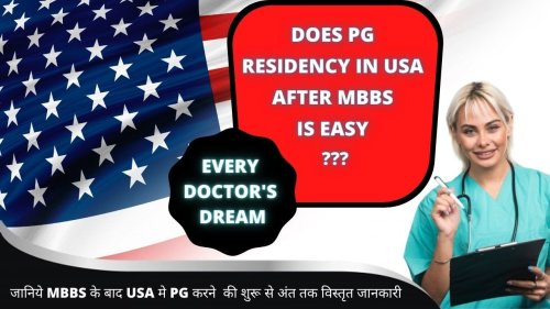 PG in USA After MBBS