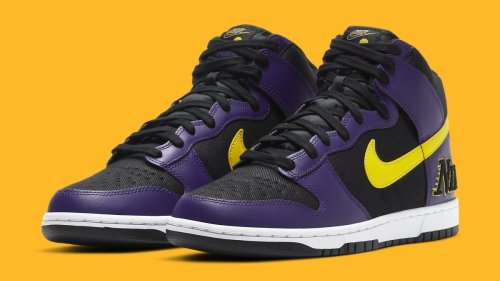 A Lakers-Themed Nike Dunk High Is Releasing Soon