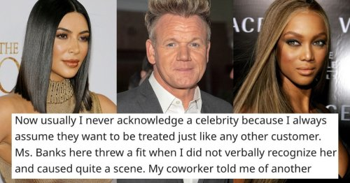 22 servers who have waited on celebrities share what they were like.