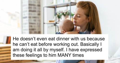 New mom asks if it's fair to ask husband to stop going the gym as much as he does.