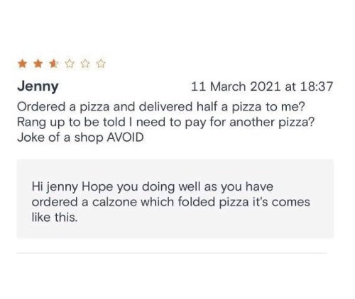 28 funny times restaurants responded to bad reviews.