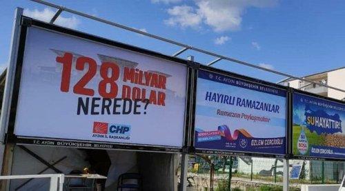 '128 milyar dolar nerede' afişleri iki ilçede daha toplandı