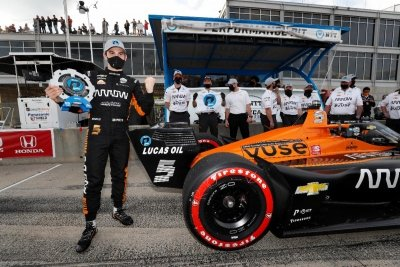Chevrolet earns 100th pole as O'Ward rises to the top