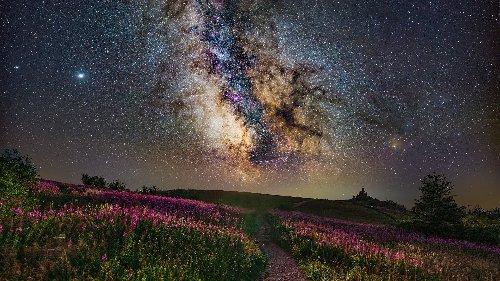 Milchstraßenzentrum über der Wasserkuppe