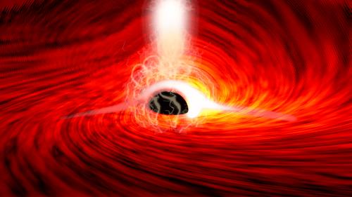 Verbogene Lichtstrahlen: Erster Blick direkt hinter ein Schwarzes Loch
