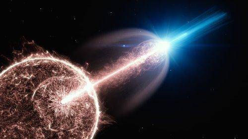 Explosion im Kosmos: Ein Gammablitz, der sonderbar nachglüht