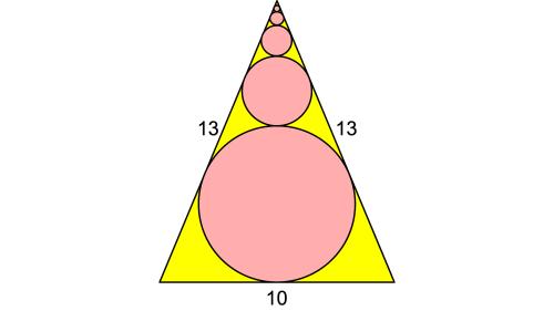 Hemmes mathematische Rätsel: Wie groß ist die Summe der Umfänge aller Kreise?