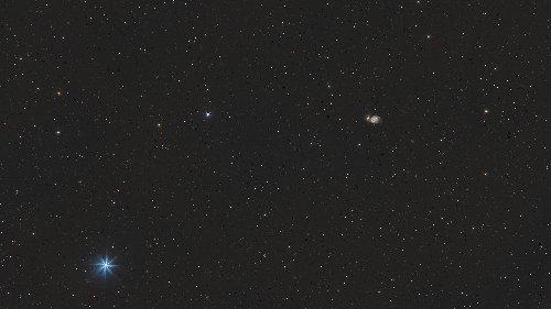 Whirlpool-Galaxie M 51 wide field am 12. April 2021