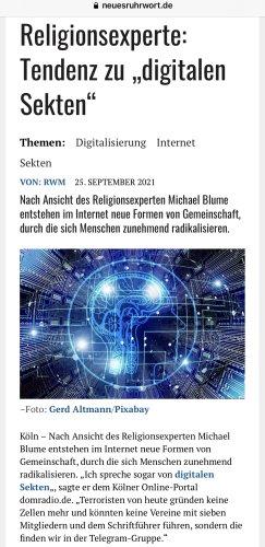 Digitale Sekten gegen Natur & Wissenschaften plus die Klima-Spaltung der Religionen