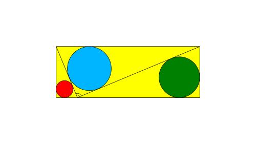 Hemmes mathematische Rätsel: Wie groß ist der Radius des blauen Kreises?
