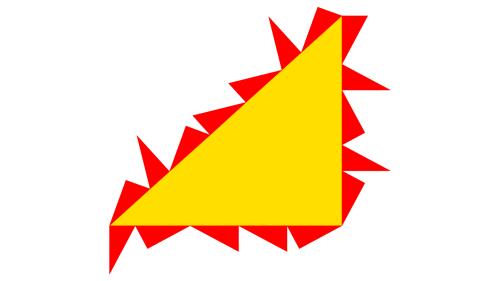 Hemmes mathematische Rätsel: Welches Verhältnis haben die Seiten der roten Dreiecke?