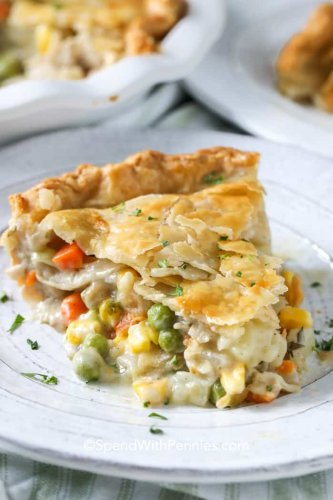 Turkey Pot Pie {Great for Leftover Turkey!} - Spend With Pennies
