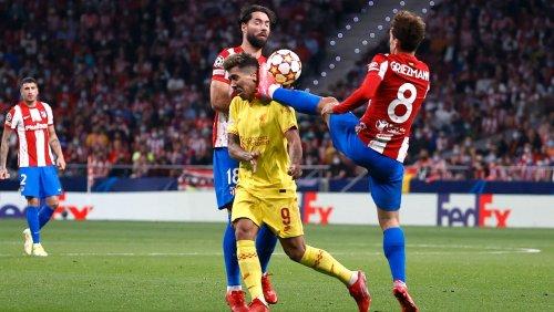 Champions League: Griezmann trifft, tritt und fliegt – Atlético unterliegt Liverpool