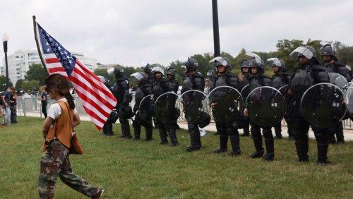 Weniger Teilnehmer als erwartet: Vier Festnahmen bei Demo von Trump-Anhängern vor dem Kapitol