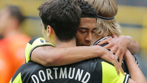 Fußball-Bundesliga: Dortmund siegt nach Startschwierigkeiten souverän gegen Werder