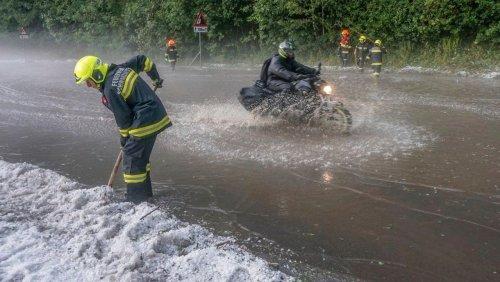 Unwetter in Österreich: Vater und Tochter in Kärnten gerettet