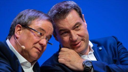 Rivalen um die Kanzlerkandidatur: Nächtliches Treffen von Söder und Laschet endet ohne Ergebnis