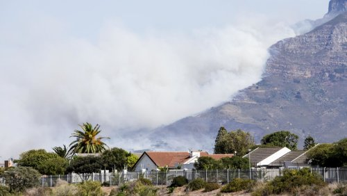 Universität in Kapstadt in Brand: Feuer am Tafelberg