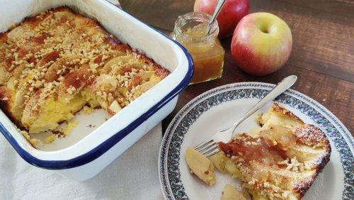 Kochen ohne Kohle: Süßer Grießauflauf mit Äpfeln – für 1,10 Euro