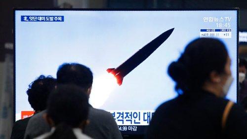 Konflikt mit Südkorea: Nordkorea hat offenbar erneut Rakete getestet