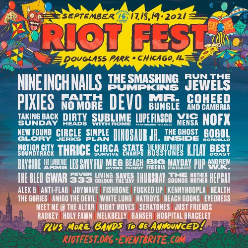 Nine Inch Nails, Smashing Pumpkins, Run the Jewels, Faith No More Highlight Riot Fest 2021