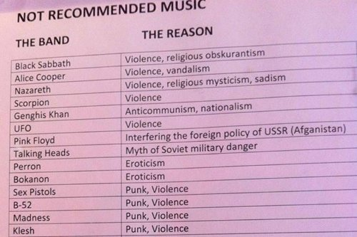 The Soviet Union Banned These Bands in 1985 | SPIN
