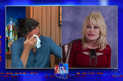 Dolly Parton Makes Stephen Colbert Cry on 'Late Show'